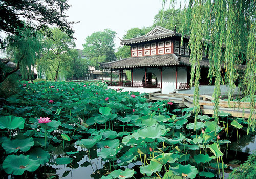 In Humble Administrator's Garden, the names of many buildings are related to lotus because the lotus is a plant with pure and lofty character in Chinese culture.