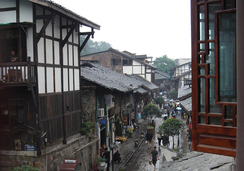 Ciqikou Ancient Town is a famous attraction in Chongqing.