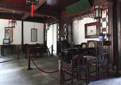 The interior furnishing in the hall,Suzhou