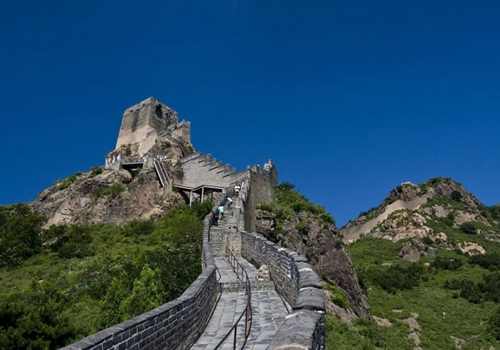 Jiaoshan Great Wall is a section located in Qinhuangdao City,Hebei Province.