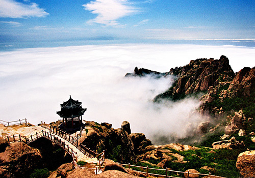 The marvelous sea of clouds of Laoshan Mountain,Qingdao