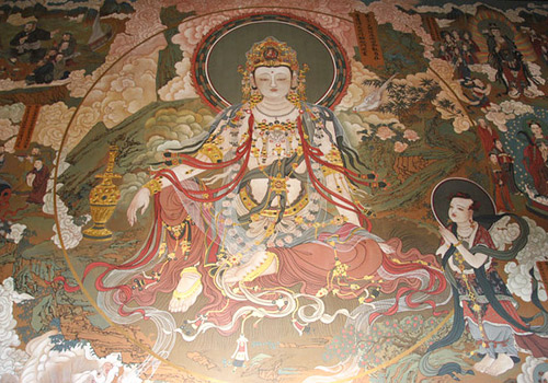 The exquisite and bright murals in Huayan Monastery,Datong