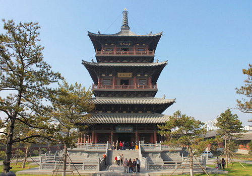 The Huayan Wooden Pagoda in Huayan Monastery,Datong