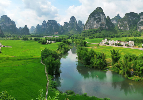 With typical karst features,Ming-shi Countryside is hailed as the