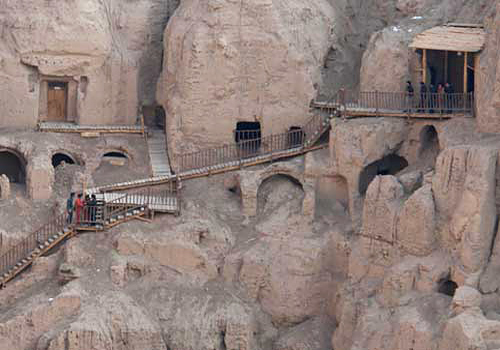 The Thousand Buddha Caves in Tuyugou,Turpan