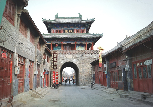 The Drum Tower in Luoyang Old Town District of Luoyang City in Henan Province