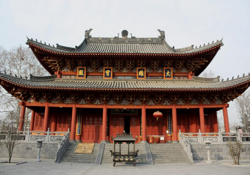 Hall of Mahavira (Da Xiong Hall) is the Biggest Hall of White Horse Temple.