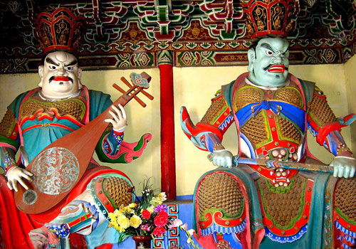 Statues of Great Heavenly Kings in Baima Temple,Luoyang