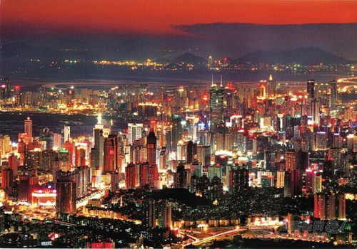 Night Scene of Shenzhen