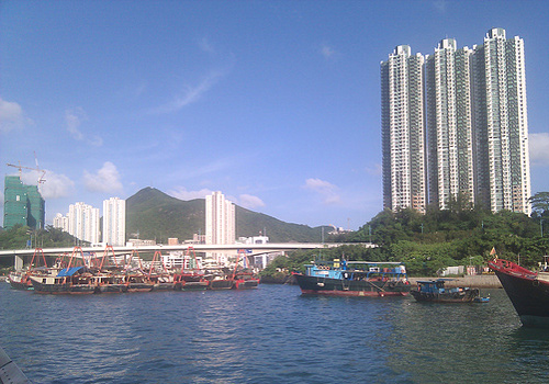 Aberdeen becomes a well known tourist spot for its floating village and floating seafood restaurants in the Aberdeen Typhoon Shelters,Hong Kong.