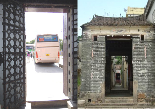 The Iron Gate witness the history of Kim Tin Walled Village in Hong Kong.