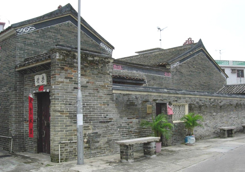 The dwelling houses are orderly arranged in Kim Tin Walled Village.