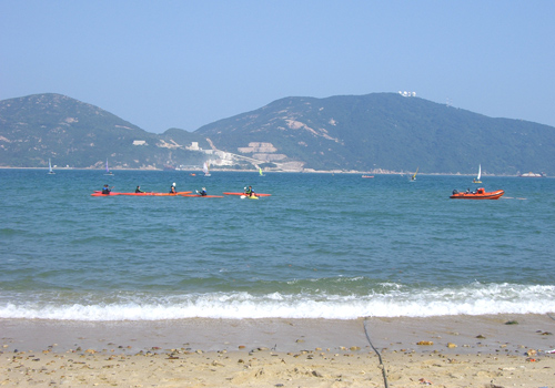 Hong Kong is endowed with numorous beaches.This is the Stanley Main Beach in Hong Kong Southern District.