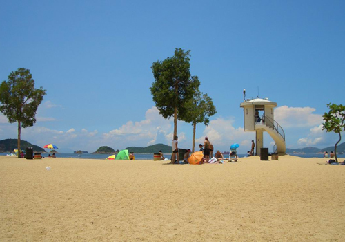 The Repulse Bay Beach in Hong Kong Southern District