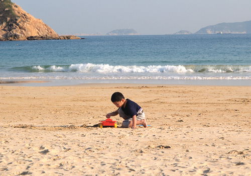The Shek O Beach in Hong Kong Southern District