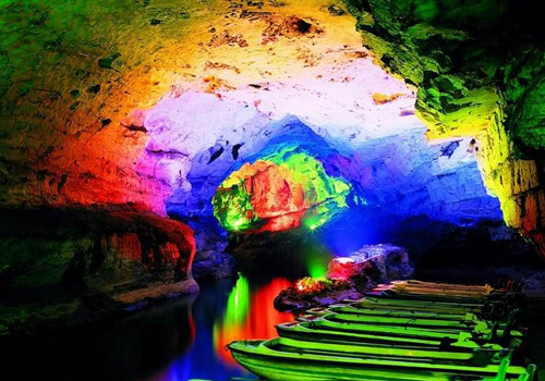The Rattle River in Yellow Dragon Cave in Wulingyuan Scenic Area,Zhangjiajie City,Hunan Province.