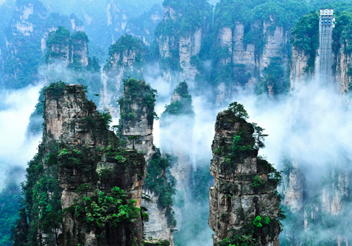 Scenery of Tianzi Mountain in Wulinyuan Scenic Area,Zhangjiajie City,Hunan Province