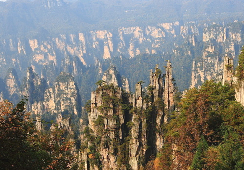 Imperial Brush Peak of Tianzi Mountain in Wulinyuan Scenic Area,Zhangjiajie City,Hunan Province