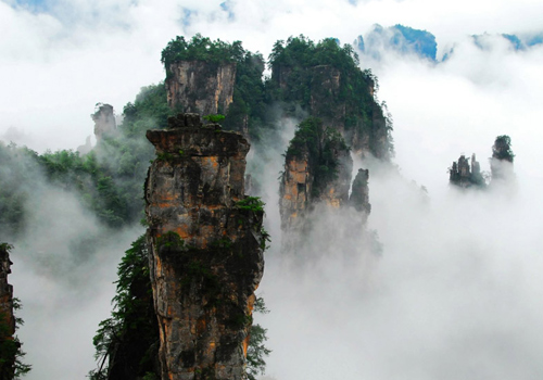 Yangjiajie Scenic Area in Zhangjiajie Forest Park,Wulinyuan District,Zhangjiajie City,Hunan Province