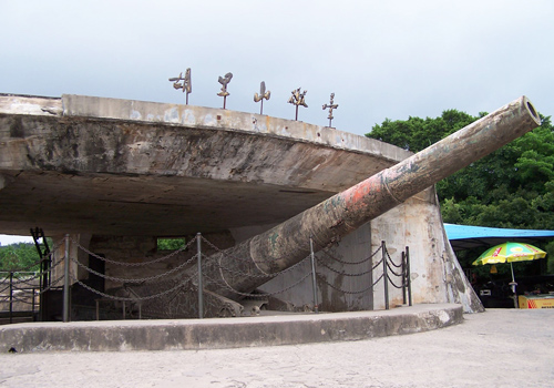 Built in 1894,Hulishan Cannon Platform has the most ancient and existing largest of 19th century coast cannon in the world.