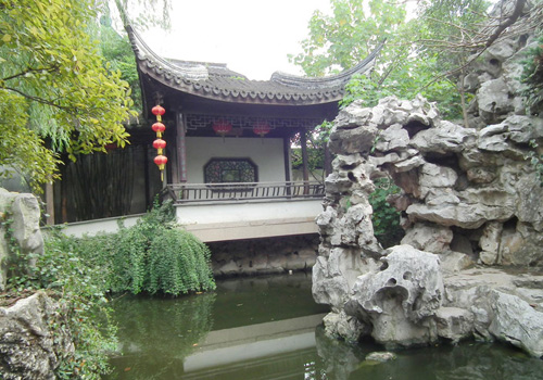 The West Garden of Xitang Ancient Town in Zhejiang Province