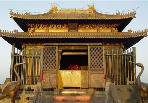 Golden Hall is the largest golden copper hall around China.
