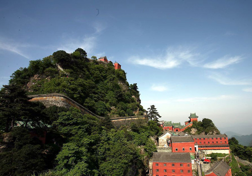 a glimpse of Wudang Mountain Scenic Area, Shiyan City, Hubei Province