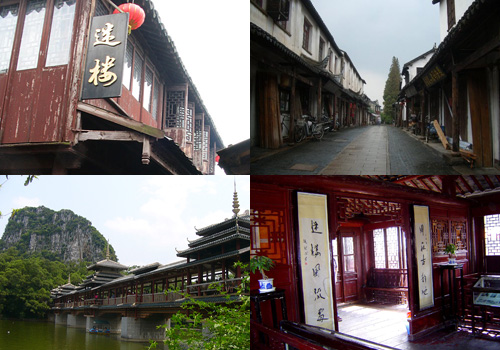 Standing along Zhenfeng Bridge, built in the Guangxu Period (1871-1908), the building was once called De Ji Hotel.