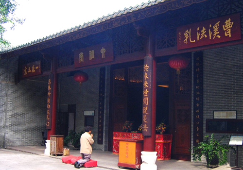 The Hall of Six Buddhism Patriarchs in Temple of Six Banyan Trees,Guangzhou