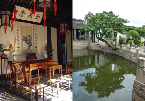 As one of the few architecture of Ming Dynasty style, Zhang House, covering an area of 1800 square metres and boasting over 70 rooms, is listed as a Major Historical and Cultural Site Protected at Jiangsu provincial level.