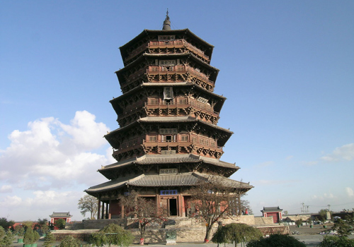 Originally built in 1056,Yingxian Wooden Pagoda is the existing oldest and tallest timberwork pavilion architecture in China.