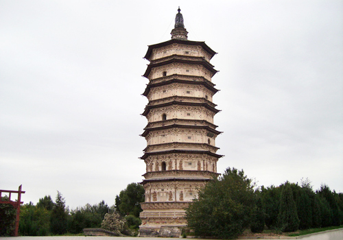 An existing earliest and largest Tibet style Buddhist pagoda in China, the White Pagoda is the most exquisite among all preserved Liao pagodas.