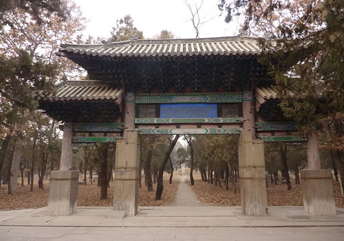 Memorial Archway of Lady Yu  was set up for the daughter of Emperor Qianlong.