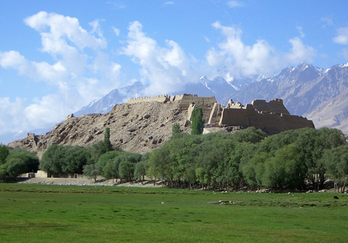 The Stone City of Kashgar is a famous ruins of ancient city along the Silk Road in Xinjiang Province.