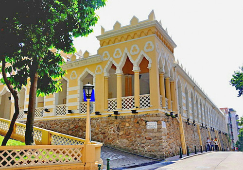 Moorish Barracks near the A-Ma Temple is the only Arabian-style building in Macau.