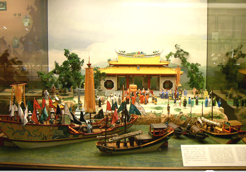 "The most eye-catching exhibits in the Maritime Museum of Macau show the spectacular scene of ""Zheng He's Expedition to western seas""."