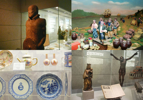 The exhibits of Macau Museum show the fusion of Chinese and western cultures in Macau.