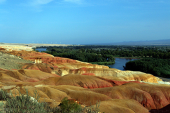 Multicolored Beach of Xinjiang