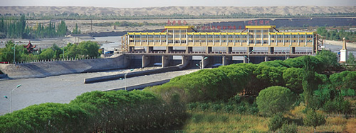 Ka Qun Water Diversion Project on Yarkand River