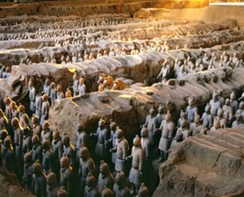 The Terracotta Army and Horses