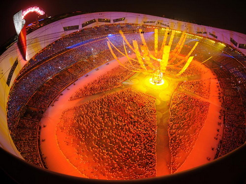 The opening ceremony for the Olympic Game held in Beijing in 2008.