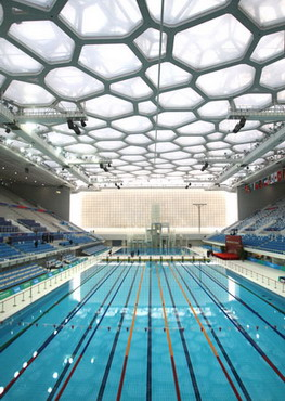 National swimming centre beijing the water cube for Beijing swimming pool olympics