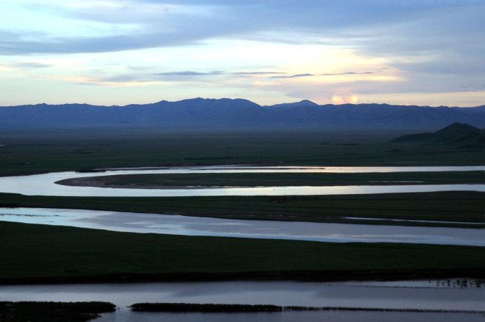 First Bend of Yellow River in Ruoergai Grassland, Aba