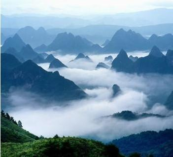 Mao'er Mountain is the first ridge in South China.