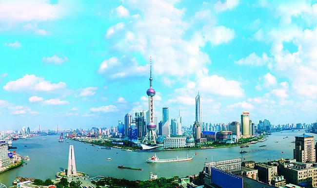An overview of Huangpu River, Shanghai