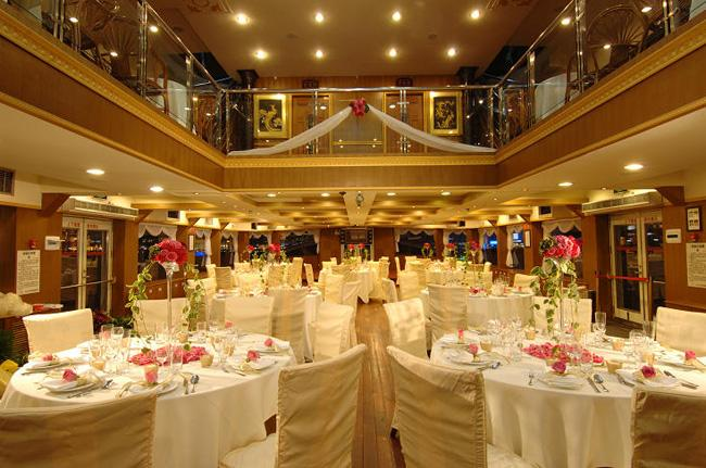The interior of an cruise ship along Huangpu River, Shanghai