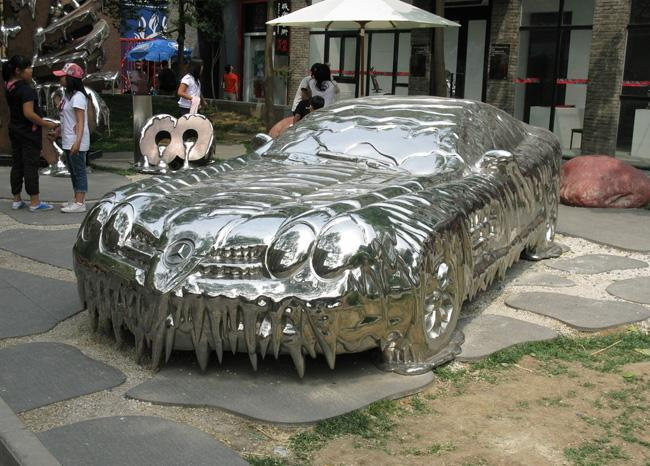 A sculpture of a car, Beijing 798 Art Zone
