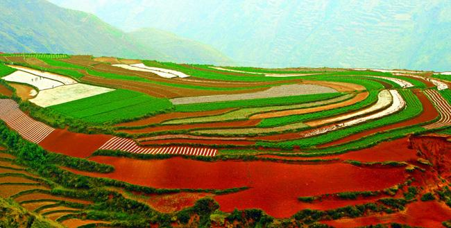 The miraculous and beautiful red land of Dongchuan, Kunming