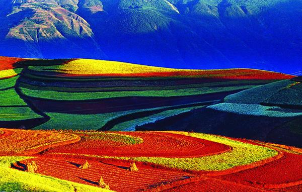 The marvelous red land of Dongchuan, Kunming