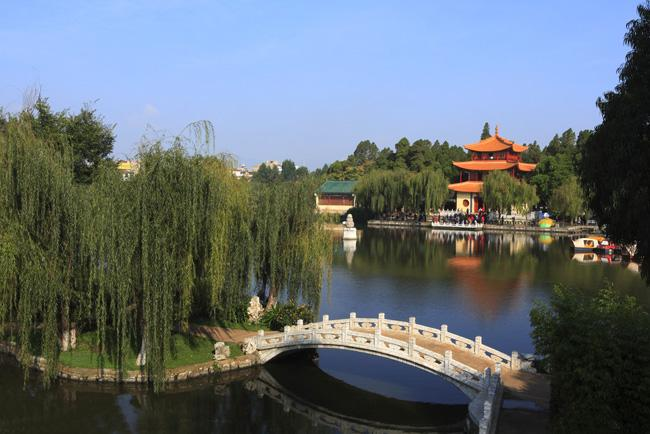 The beautiful scene of Daguan Park, Kunming